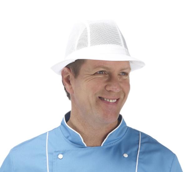 Plain White Trilby Hat
