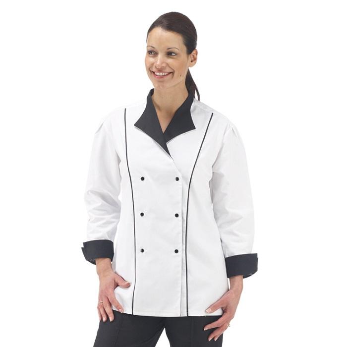 Ladies White Contrast Tunic