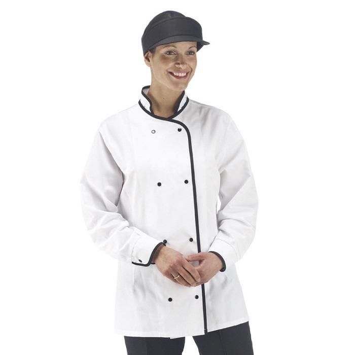 Ladies White Cooks Tunic