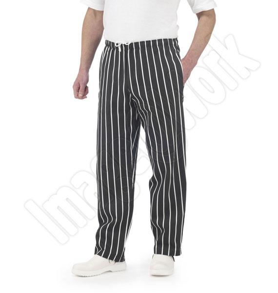 Striped Chefs Trouser