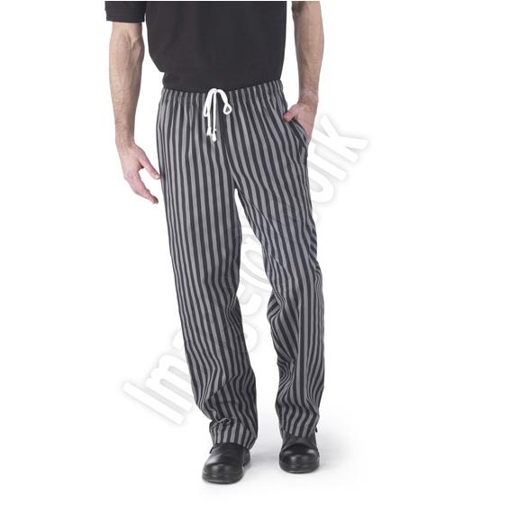 Black/Grey Stripe Chefs Trouser