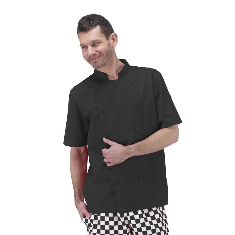 Unisex Deluxe Short Sleeve Chefs Jacket