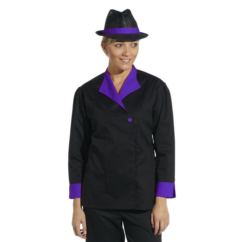Ladies Black Contrast Tunic