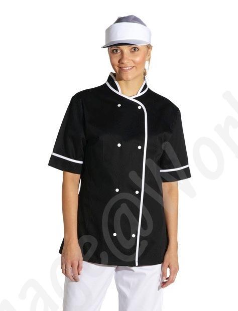 Ladies Black Cooks Tunic