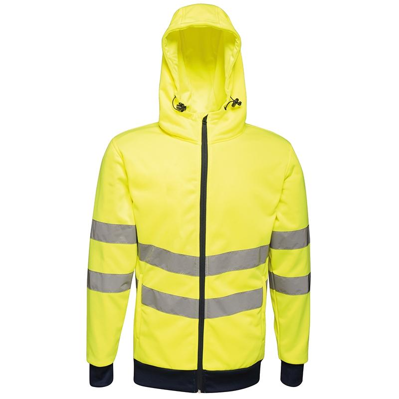 Hi-vis pro full-zip hoodie