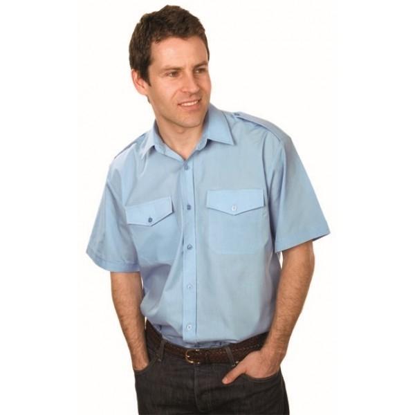 Men's Classic Mid Blue Pilot Shirt