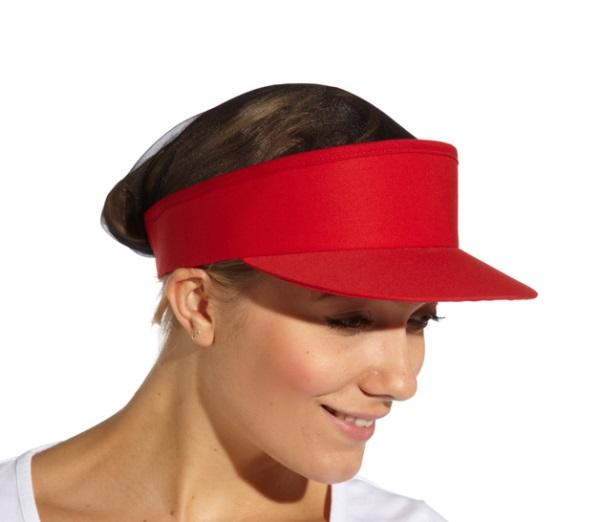 Visor Hat (Black Mesh Crown)
