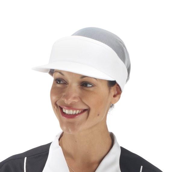 Visor Hat (White Mesh Crown)